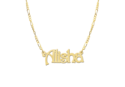 Gold name necklace, model Alisha