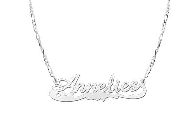 Silver Name Necklace model Annelies