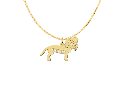 Golden Pendant with Dog