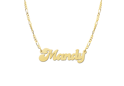 Gold name necklace, model Mandy