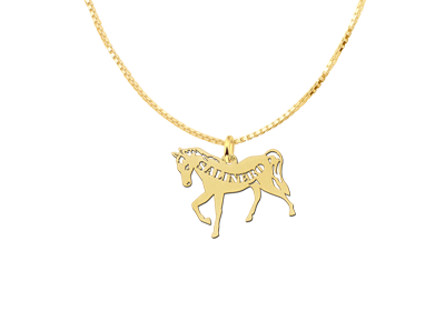 Golden Pendant with Horse