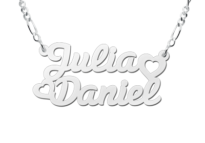 Silver name necklace, model Julia / Daniel
