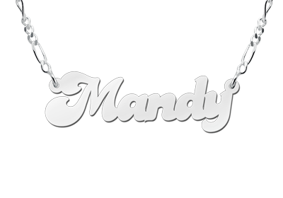 Silver name necklace, model Mandy