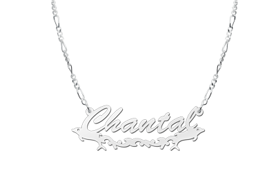 Silver Name Necklace model Chantal