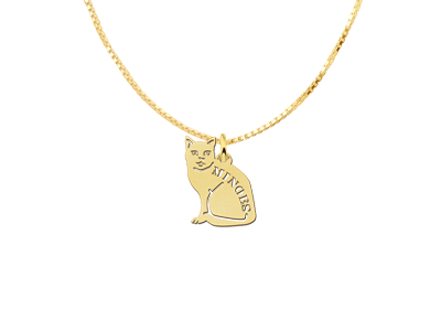 Golden Pendant with Pussycat