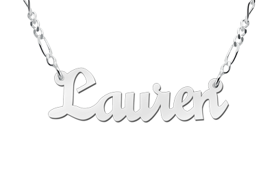 Silver name necklace, model Lauren