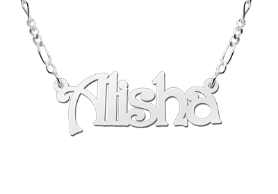 Silver name necklace, model Alisha