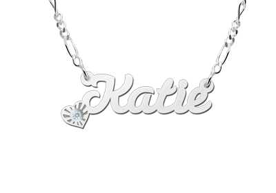 Silver name necklace, model Katie