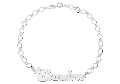 Silver Anklet with Name